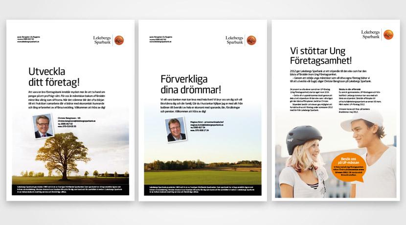 Lekebergs Sparbank presentationsblad